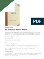 De Graecorum Medicis Publicis
