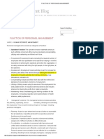 Function of Personnel Management