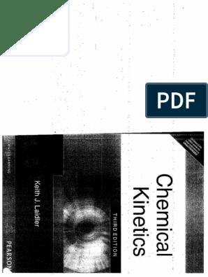 chemical kinetics keith j laidler