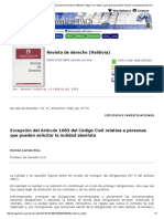Revista de Derecho (Valdivia) - _b_Excepción Del Artículo 1683 Del Código Civil Relativa a Personas Que Pueden Solicitar La Nulidad Absoluta__b
