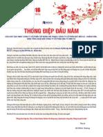 Thông điệp đầu xuân Bính Thân của TGĐ. Hồ Minh Hoàng
