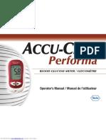 Accuchek Performa user manual