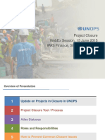 Project Closure WebEx Presentation 20150615