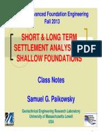 Settlement of shallow foundation 2013