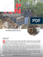 Top 10 Battery Blunders