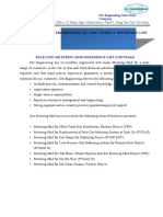 REFERENCE LIST FOR METERING SKID .docx