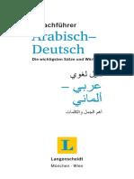 Arabisch Deutsch Sprachfuehrer