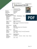 Muhammad Shoaib Resume