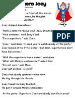 Text Superhero Joey
