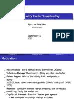 Apoorva Javadekar - Ratings Quality Under 'Investor-Pay Model
