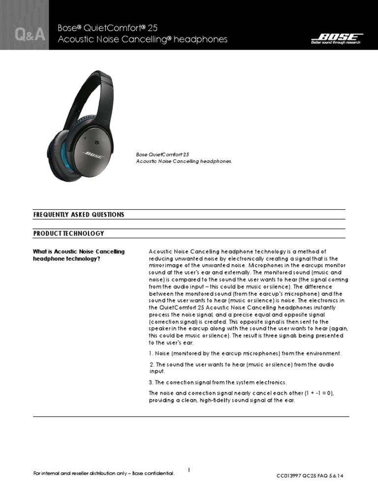 Bose Qc25 Faq Headphones I Pod Quietcomfort Headphone For Apple Devices White