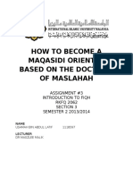 How to Become a Maqasidi Oriented Person Based on the Doctrine of Maslahah