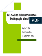 MODELES COMMUNICATION
