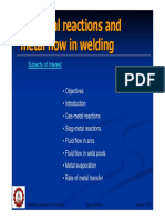 Chemical Reactions and Metal Flow in Welding