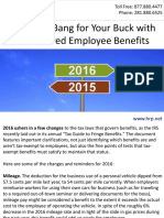 Get More Bang for Your Buck with Tax-Favored Employee Benefits