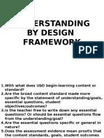 Understanding by Design Framework