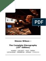 Steven Wilson Complete Discography