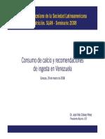 Consumo Calcio Recomendaciones Ingesta Venezuela
