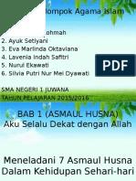 Mata Pelajaran Pendidikan Agama Islam Bab 1 (Asmaul Husna) kelas X