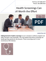 Employee Health Screenings Can Be Well Worth the Effort