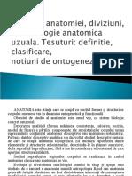 Definitia anatomiei, diviziuni,