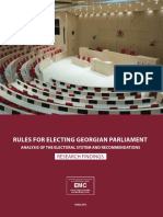 RULES FOR ELECTING GEORGIAN PARLIAMENT