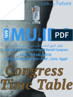 Congress time table & workshops