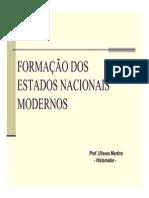 Formação dos Estados Nacionais Modernos REC