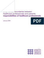 CHRE (2008) - Clear Sexual Boundaries Between Healthcare Professionals and Patients - Responsibilities of Healthcare Professionals