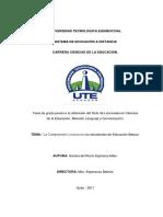 Tesis Sobre Comprensión Lectora en Estudiantes Ed.básica-Quito, 2011