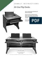 ILid Multi Use Flip Desks Assembly Instruction