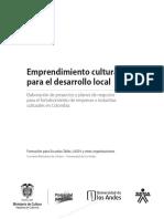 Emprendimiento Cultural Para El Desarrollo Local