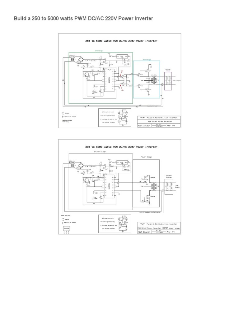 250 to 5000 watts pwm dc_ac 220v power inverter _ nonstop  free electronic schematics