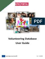 Volunteering Database User Guide 2014