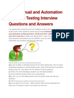 101 Manual and Automation Software Testing Interview Questions and Answers