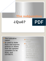 the subjunctive spii