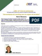Conferencia Mar+¡a Manzano ICF
