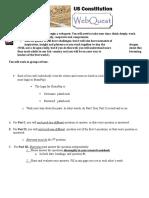 Constitution Webquest Directions