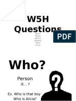 w5h Questions