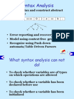 Syntax Analysis