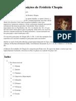 Lista Das Composições de Frédéric Chopin – Wikipédia, A Enciclopédia Livre
