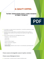 Overview of statistical quality control