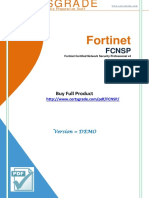 Fortinet FCNSP Test Practice Questions