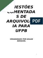 Questões Comentadas de Arquivologia Para Ufpb