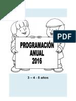 Programación Anual Inicial 3, 4, 5 Años 2016
