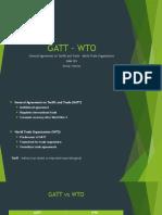 GATT - WTO