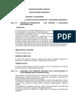 Especificaciones Tecnicas Instalaciones Feb 2013