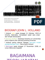 Teori Pemilihan Jabatan John Holland