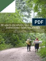 20 Años Despues Las Causas Del Zapatismo Son Vigentes