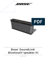 Bose Manual